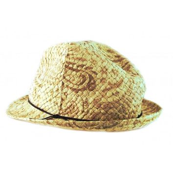 NEW Acorn Womens Summer Straw Fedora Hat Comfortable Natural A31033 One Size