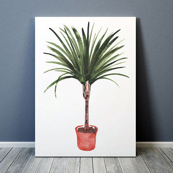 Botanical print Potted plant poster Flower print Watercolor art ACW638
