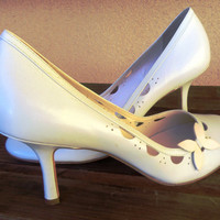 ON SALE!!! - Vintage Baby Blue Round toe Pumps - Antonio Melani - Size 8M - Were 45.00 - NOW 30.00
