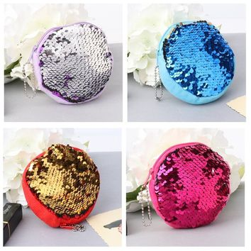 Multi-color Reversible Glitter Mermaid Sequin Coin Money Bag Purse Wallet for Women Girl Lady Gift