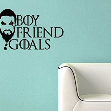 Game of Thrones Inspired Parody Khal Drago Boyfriend Goals Wall Decal Sticker