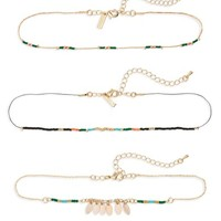 Topshop Set of 3 Beaded Chokers | Nordstrom