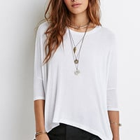 Drop-Sleeved Poncho Top