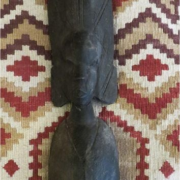 Primitive African wood carved Figure