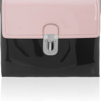 Marni | Two-tone faux patent-leather clutch | NET-A-PORTER.COM