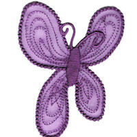 Large 8cm Butterfly Patch Badge Applique