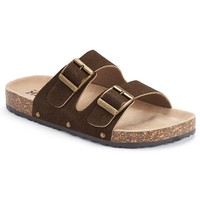 Mudd Women's Double-Buckle Footbed Slide Sandals