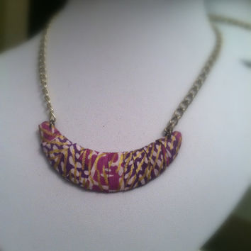 African Woodin Wrapped Necklace