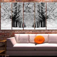 Large Wall Art Snowy Forest in Winter Canvas Print | Parkway Canvas Painting | Tree Canvas Print - MC197
