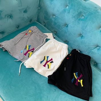 """""""Gucci x New York"""" Women Fashion Sequin Letter Embroidery Shorts Leisure Pants Sweatpants"""