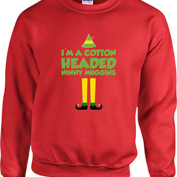 Funny Christmas Sweater Buddy The Elf Sweater Christmas Presents Holiday Season Ugly Xmas Pullover Elf Clothing Unisex Hoodie - SA458