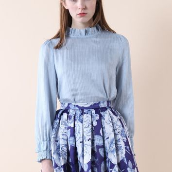 Creases of Love Blouse in Blue