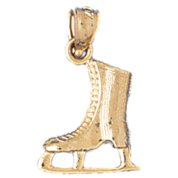 14K GOLD SPORT CHARM - ICE SKATING BOOT #3528