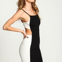 HIGH CONTRAST CAMI BODYCON DRESS