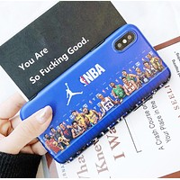 Jordan New fashion people letter print couple protective cover phone case