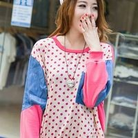 Harajuku Polka Dots Long Sleeve Loose T-shirt - Rose Red, Black or White - S M L from Tobi's Finds