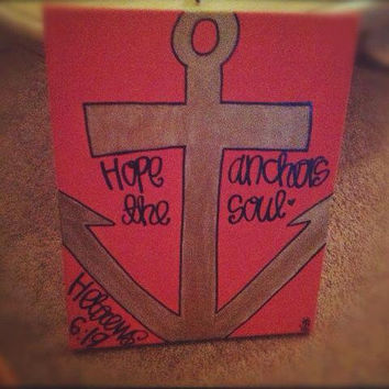 hope anchors the soul - hebrews 6:19 canvas