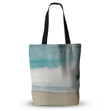 "Ingrid Beddoes ""Ocean Blues"" Wave Everything Tote Bag"
