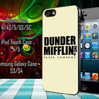 Dunder Mifflin The Office Samsung Galaxy S3/ S4 case, iPhone 4/4S / 5/ 5s/ 5c case, iPod Touch 4 / 5 case
