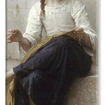 Sewing By Adolphe-William Bouguereau - Phone Case