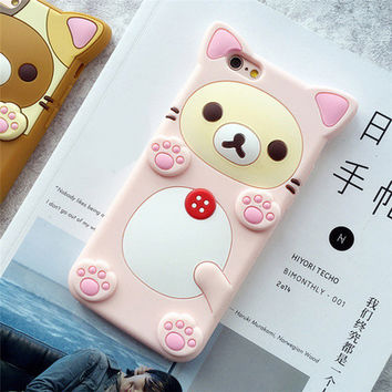 Cute 3D Cartoon Rilakkuma Bear Silicon Case for iPhone 6 6s Plus Rubber Silicone Cover Shell Phone Cases for iPhone X 7 7 Plus-in Half-wrapped Case from Cellphones & Telecommunications on Aliexpress.com   Alibaba Group