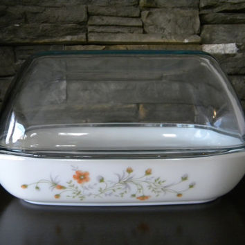 "Pyrex England ""Emily"" High Dome Roaster, Mint Condition with Original Care Instructions"
