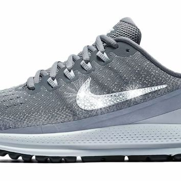 Nike Air Zoom Vomero 13 + Crystals - Cool Grey