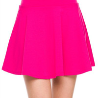 Full of Color Fuchsia Skater Skirt