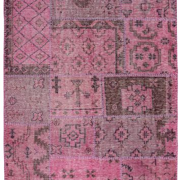 Rizzy Home Maison MS8934 Pink Patchwork Area Rug