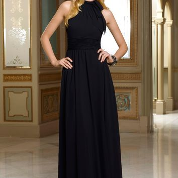 Mori Lee 658 Chiffon Halter Bridesmaids Dress