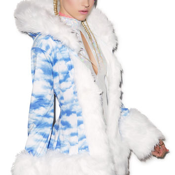 J Valentine Gettin' Cloudy Hooded Coat S/M