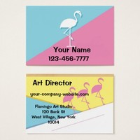 Pink and Blue Business Card
