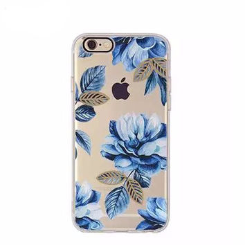 Midnight Blue Fleur Case for iPhone 6 6S 6Plus 6SPlus