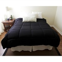 Dorm Bedding Black Comforter - Twin XL College Bedding Comforter