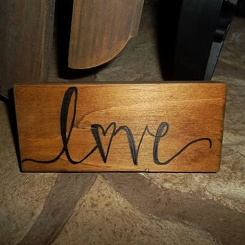 Rustic Love Sign, Rustic Home Decor, Rustic Country Wedding Decor, Home Decor, Rustic Sign, Primitive Sign, Wedding Sign, Love Sign