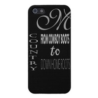 Country Lyrics Monogrammed Iphone 5 Case from Zazzle.com