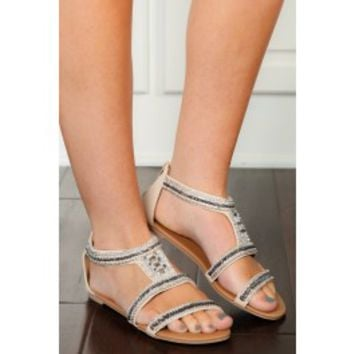 Just Bead It Sandals-Natural