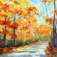 Autumn Watercolor Print | BRIKA - A Well-Crafted Life