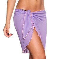Hot Selling Ladies Sexy Chiffon Wrapped Beach Sikirts Women Solid Sexy Lacing Up Summer 2017 Cover Up Two Use Womens Skirts #514