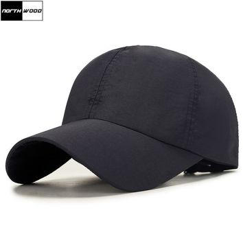 Trendy Winter Jacket [NORTHWOOD] 2018 Solid Quick Drying Summer Baseball Cap Men Snapback Hat Summer For Women Outdoor Casquette Fitted Hats AT_92_12