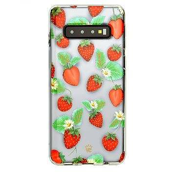 Strawberry Clear Samsung Galaxy Case