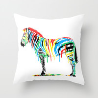 Fresh Paint Throw Pillow by Eric Fan