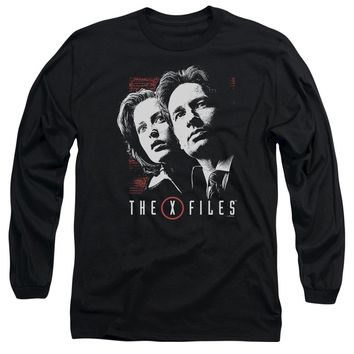 X Files - Mulder & Scully Long Sleeve Adult 18/1 Officially Licensed Shirt