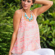 Gone On Vacay Tank, Neon Pink