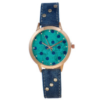 Trendy Designer's Gift Great Deal New Arrival Good Price Awesome Vintage Weathered Fashion Denim Ladies Stylish Blue Watch [6047456641]