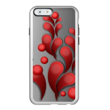 red flourishing floral incipio feather® shine iPhone 6 case