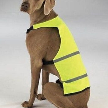 Reflective Safety Dog Vest Fluorescent Yellow XS Extra Small Guardian Gear GGXSY