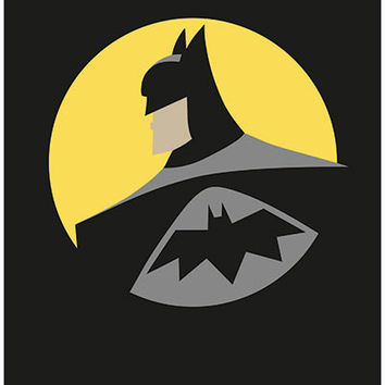 Batman poster - Super Heroes - Art Posters  - Batman logo - Wall decor - Wall art - Art print - Black