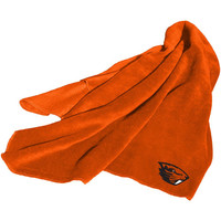 Oregon State Beavers NCAA Fleece Throw Blanket (Orange)
