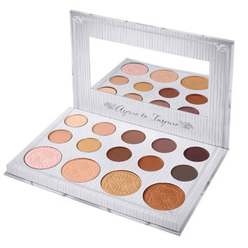 BH Cosmetics Carli Bybel 14 Color  shadow & Highlighter  naked Matte Glitter shadow Palette glow kit